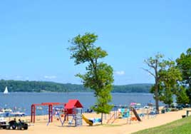 Fun on the beach at Buttonwood Beach Recreational Vehicle Resort, Earleville, Maryland