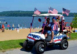 Bike Parade at Buttonwood Beach Recreational Vehicle Resort, Earleville, Maryland