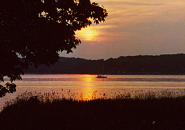 A spectacular sunset at Buttonwood Beach Recreational Vehicle Resort, Earleville, Maryland