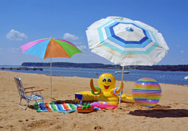 The beach at Buttonwood Beach Recreational Vehicle Resort, Earleville, Maryland