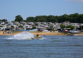 Water view of Buttonwood Beach Recreational Vehicle Resort, Earleville, Maryland