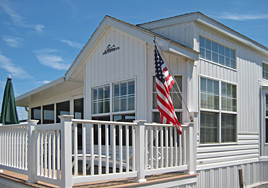 Park model home at Buttonwood Beach Recreational Vehicle Resort, Earleville, Maryland