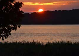 Sunsets at Buttonwood Beach Recreational Vehicle Resort, Earleville, Maryland