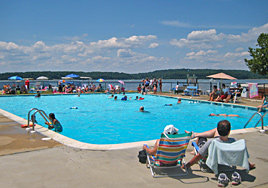 Swimming pool at Buttonwood Beach Recreational Vehicle Resort, Earleville, Maryland